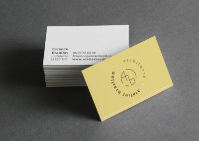 graphiste Grenoble - cartes visite architecte