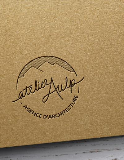 Logo pour l'agence d'architecture atelier Aulp