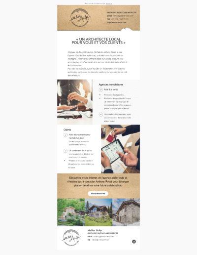 Mailing newsletter graphiste Grenoble