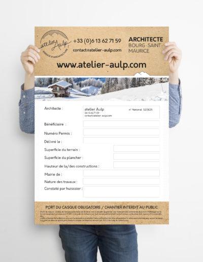 Panneau de chantier architecte Grenoble